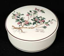 Villeroy Boch Botanica covered box pink deep pink flowers brown trim Luxembourg