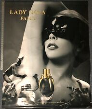 "Lady Gaga Fame perfume 2 sided promo vinyl banner poster HUGE 44""x55"""
