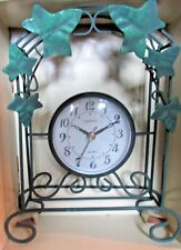 "Beautiful Ingraham ""Wrought Iron 8""Accent Clock"" Grape Vine Design"