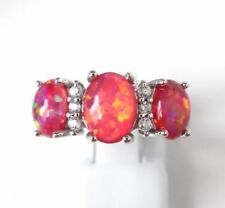 Opal Simulated Stone Costume Rings