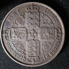 One florin 1871 Great Britain KM#746.2 UK Grande-Bretagne GB Queen Victoria