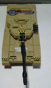 SPECIAL FORCE PLASTIC MILITARY TAN CAMOUFLAGE TOY TANK W/ SOUNDS