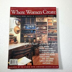 Where Women Create Magazine 2011 February March April Back Issue