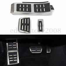 3Pcs DSG Sport Foot AT Brake Pedal Plate Cover Set For AUDI A4 S4 A5 A6 Q5 S5 A7