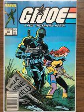 GI Joe #63, Marvel 1987, Rare Newsstand Edition