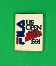 US Open tennis pin - 1991 - FILA clothing sponsor -  Grand Slam tournament badge