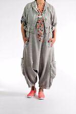 ♦ Kekoo Jeans-Jacke Gr.2-42,44,46/48 Cotton/Leinen, Waschung, grau-weiß ♦