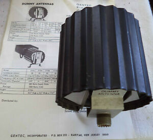 Used 50 Ohms Dummy Antenna 125 Watts - Genten Inc. Model 525 with Instructions