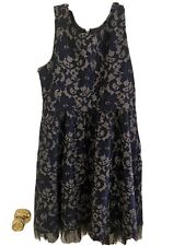 Justice Party Formal Blue Lace 10 Dress