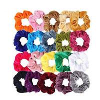 Lady Hair Scrunchies Velvet Elastics Hair Ties Scrunchy Bands Ties Ropes Gift Sw