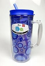 Bubba Envy Serenity Travel Mug with Straw; Bubble Graphic Blue / 48 oz   New!