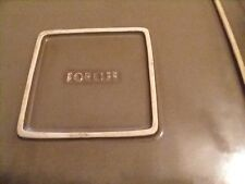 Crate & Barrel Masa Slate Grey FORLIFE Square Salad Plates~Set of 3. 8.5 inches
