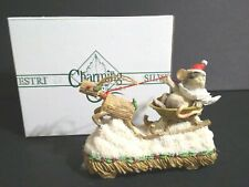 Fitz And Floyd Charming Tails Mackenzie Claus On Parade Christmas Mouse Reindeer