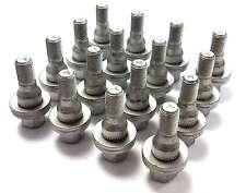 X16 PEUGEOT 3008 09> SALOON FLAT WASHER SILVER HEAD WHEEL BOLTS NUTS M12 X 1.25