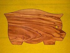 TAGLIERE ASSE legno di ulivo pezzo unico FORMA MAIALE MAIALINO GRANDE vassoio
