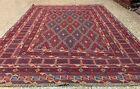Afghan Hand Woven Mashwani Gazak Wool Kilim Area Rug 6 x 5 Ft (2996 HMN)