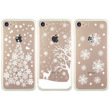 Christmas Tree Reindeer Snowflake Xmas Phone Case iPhone X XS 8 Plus 7 6 6S 5S