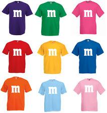 Kostüm für M&M Fan Gruppenkostüm Paarkostüm M und M Fasching Karneval MM Shirts
