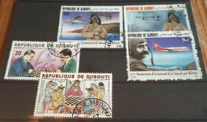 2 x Djibouti Sets Of Stamps - Int Chess Federation / Bleriot's Channel Flight