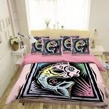 3D Color Fish 5 Bed Pillowcases Quilt Duvet Cover Set Single Queen King Au Carly