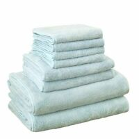 Bath Towel Sets 8Pcs Microfiber Quick Dry Square Softness Face Hand Robe Set