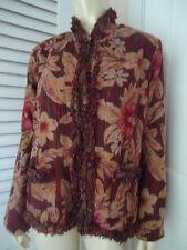 Chicos Blazer Coat 1 WaterLilly Newport Silk Blend Textured Fringe New