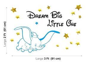 DUMBO DISNEY ELEPHANT Children KIDS NURSERY Baby Vinyl Wall art Stickers Decals