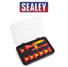Sealey Principal 1cm Orificio 9 Piezas Aislamiento VDE Enchufe & Trinquete Set