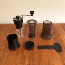 Aeropress Coffee Maker 3rd Generation + Hario Mini Mill Hand Grinder