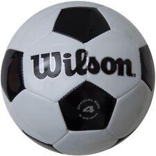 839616327f Wilson tradicionales Pelota De Fútbol Oficial Tamaño 4 Blanco-Negro WTH8754
