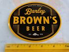 BEER Collectible STICKER ~ BARLEY BROWN'S Brew Pub ~ Baker City, OREGON Brewery