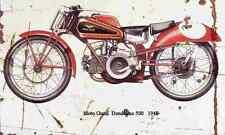 MotoGuzzi Dondolino500 1948 Aged Vintage SIGN A3 LARGE Retro