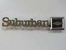 NOS Chevy Suburban Metal Emblem Ornament Nameplate Badge Script Sign Trim 1980