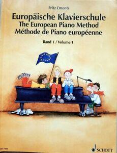 Europäische Klavierschule, Bd 1 von Emonts, Fritz, Noten Anfänger, Zustand gut