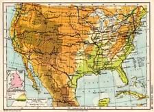 United States of America 1936 Original Antique Map