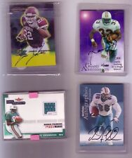 4 card Miami dolphins 3 autos and one jersey card