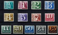 GB QEII 1970 POSTAGE DUE TO PAY USED SET OF 13 VALUES 1/2p - £5 SG D77 - D89