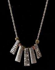 Multi Metal Necklace Vintage Art Deco