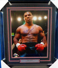 MIKE TYSON AUTHENTIC AUTOGRAPHED SIGNED FRAMED 16X20 PHOTO TRISTAR HOLO 155021