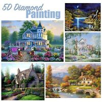 5D Landscape House Design Full Drill Diamond Painting DIY Cross Stitch Art Kit