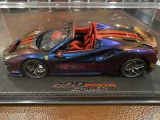 1:18 BBR Ferrari 488 Pista Spider, Chameleon #/16, With Display, NEW, RARE!