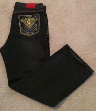 Coogi Australia Embroidered Black Jeans Mens Size 40x34 Mint Urban Hip Hop