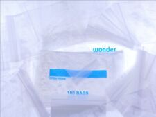 1000 1.5 x 2 Zipper Reclosable Plastic Bags 2 MIL Poly Packaging Parts Zip Lock
