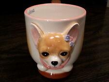 CHIHUAHUA Dog Porcelain Coffee Mug Cup Ceramic Figurine Quality By DNC Arcadia