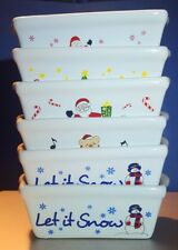 Holiday 2 X 3 X 5 Ceramic Dish - Oven & Microwave Safe -  5 Different Designs