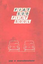 CD LIBRETTO USO E MANUTENZIONE FIAT 500 L - Tipo 110 F - Edizione 37 - X 1970