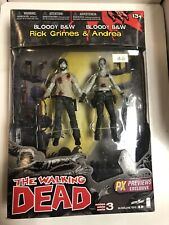 The Walking Dead Bloody Black & White Rick Grimes & Andrea 2-pack PX Exclusive
