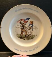 Vintage Holly Hobbie Freedom series Plate Hooray For The Red White And Blue -EUC