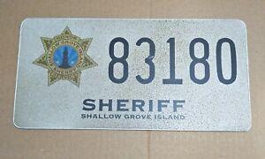 Scream TV Show Genuine Prod Used Prop Car Licence Plate Sheriff Shallow Grove