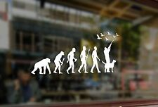25cm Hunt Evolution Hunter with dog duck SHOOTER Vinyl Stickers Decals Car